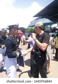 Handshake gesture of brothers (left Charles Daniel Chua, right Christoffer R. Chua) during Graduation Ceremony of PMMA Class 2019 at Philippine Merchant Academy last June 20, 2019.