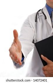 Handshake gesture from Doctor