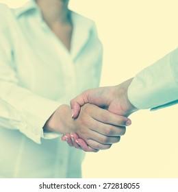 Handshake Handshaking isolate on white