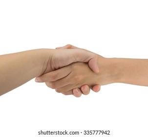 Handshake isolated on a white background