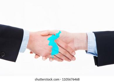 handshake, meeting for Korean Peninsula