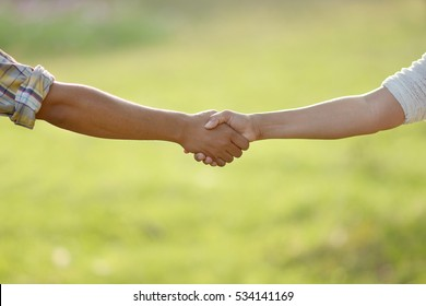 Handshake : Photos of hands touch each other