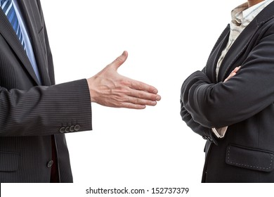 Handshake proposal in case of quarrel between two managers