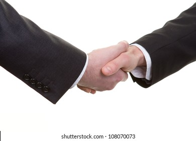 A handshake viewed from above