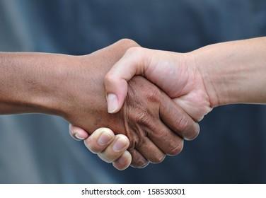 Handshake,gray background