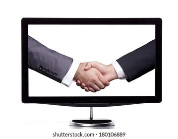 Handshaking on the screen
