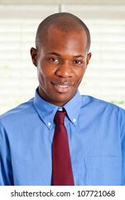 Handsome african businessman portrait