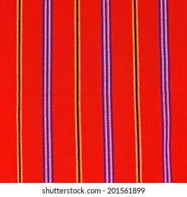 Handsome African textiles Masai Mara in Kenya
