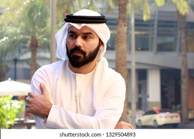 A Handsome Arab Young Business Man Standing Looking Into Something And Thinking About Future Vision
