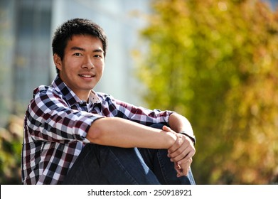 A handsome Asian young man