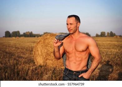 Men farming naked Naked Male