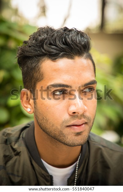 Handsome Attractive Cute Male Model Bomberjacket Stock Photo Edit
