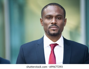 Handsome black businessman portrait