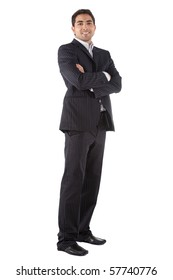 Handsome business man - isolated over a white background