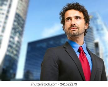 Handsome businessman outdoor