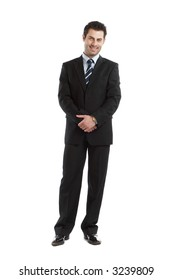 Handsome Businessman shot in studio isolated on white - check my portfolio for similar photos