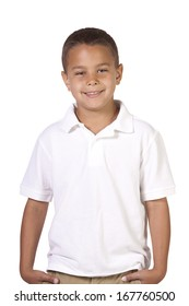 Handsome Casual Hispanic Boy - Isolated White background