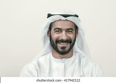 Handsome Confident Arab businessman smiling, Arabian Businessman
