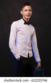 Handsome cute young man in shirt