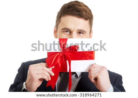 Handsome elegant man with valentines gift box.  sc 1 st  Shutterstock & Handsome Elegant Man Valentines Gift Box Stock Photo (Edit Now ...