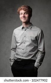 Handsome elegant young businessman