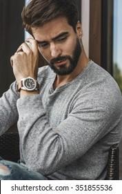 handsome fashionable man