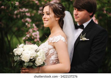 Brown Hair Woman In Wedding Dress Images Stock Photos Vectors