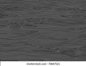 A handsome hand drawn wood pattern background in dark gray.