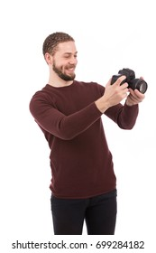 6f0e12caac8c Tanned Sensual Man Holding Bag Over Stock Photo (Edit Now) 65087041 ...
