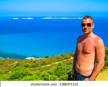 Handsome Italian Man in Sardinia, Italy