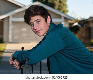 Stylish Smooth Teen Latino
