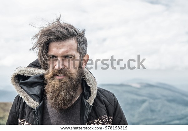 686 Best Images About Hipster Tattoos On Pinterest: Handsome Man Hipster Guy Beard Moustache Stock Photo (Edit