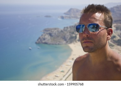 Handsome man on holiday