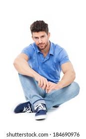 Handsome man sitting