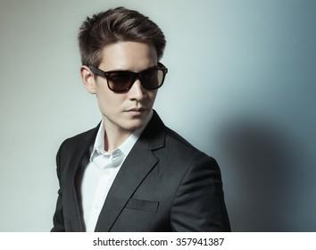 Handsome man in suit.
