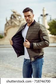 Handsome man wear jacket