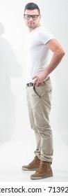 Handsome model standing