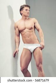 Handsome muscular guy