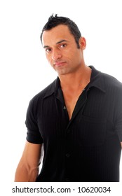 Handsome muscular hispanic male model