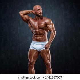 Handsome Muscular Male Model in Underweare