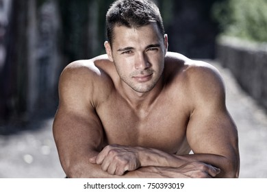 Handsome muscular male portrait