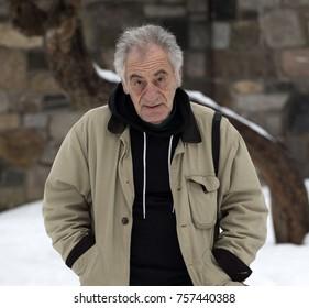 Handsome old man portrait