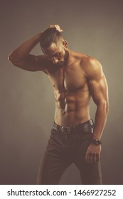 Handsome Shirtless Male Fashion Model