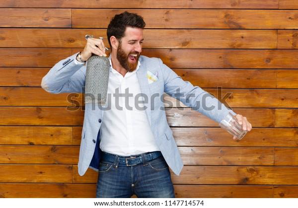Handsome smiling man enjoying life