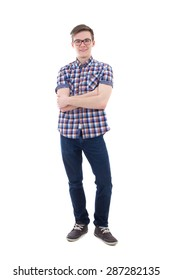 handsome teenage boy isolated on white background