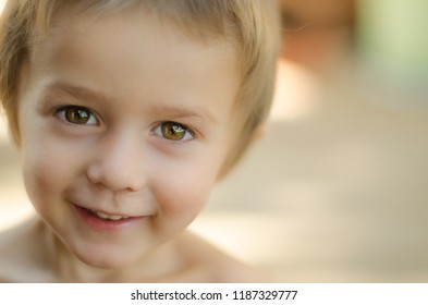 Handsome toddler portrait