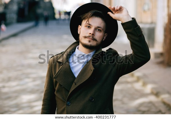 Handsome Young Bearded Hipster Man Guy Stock Photo Edit Now