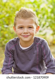 Handsome Young Boy Portrait
