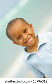 Handsome Young Boy Smiling