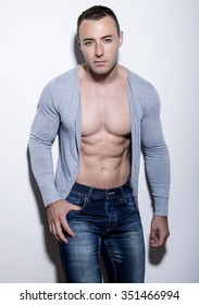 handsome young and fit bodybuilder